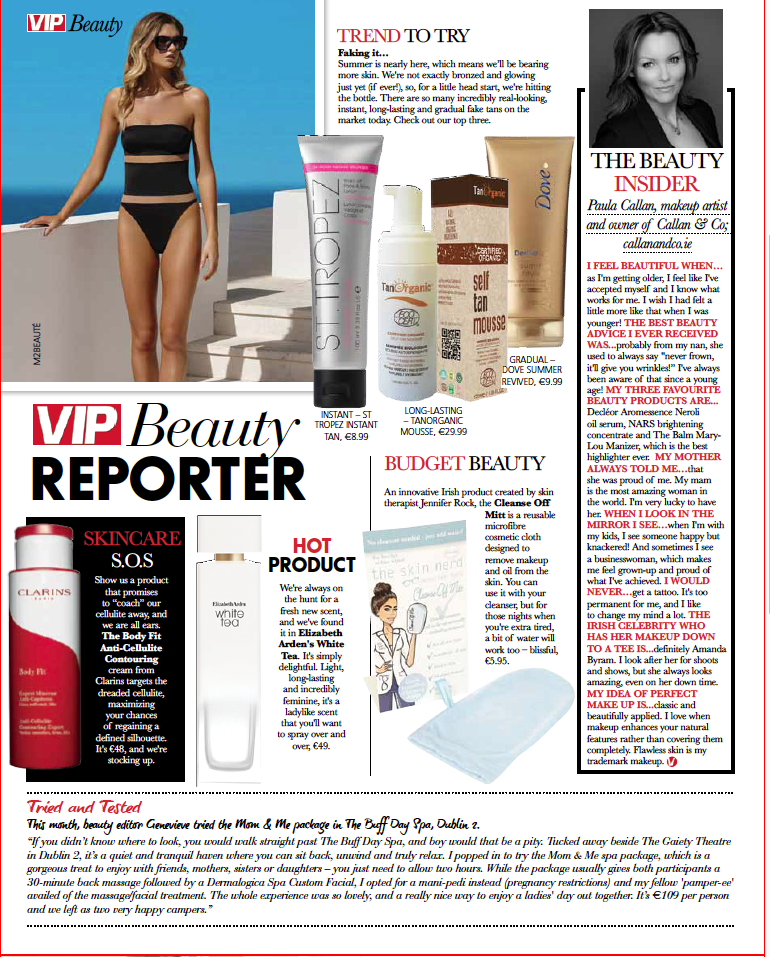 Review of The Buff Day Spa Mom & Me Package in VIP Beauty Magazine